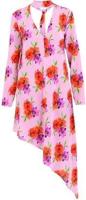 MSGM Multicolored Asymmetrical Dress
