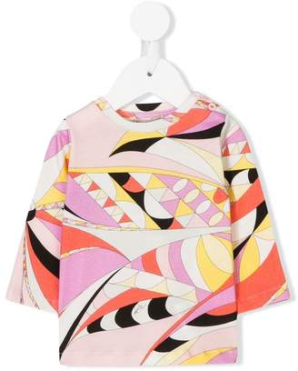 Emilio Pucci Junior long-sleeve printed T-shirt