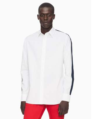 Calvin Klein regular fit racing stripe button down shirt