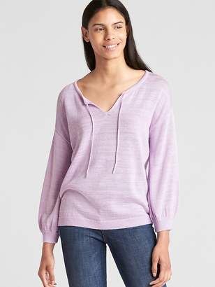 Gap Blouson Sleeve Split-Neck Sweater