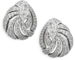 Adriana Orsini Lush Crystal Cutout Button Earrings