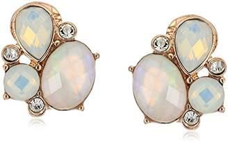 Anne Klein Cluster Button Drop Earrings