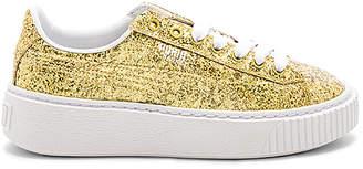 Puma Basket Platform Glitter Sneaker