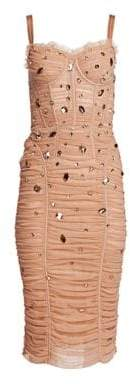 Dolce & Gabbana Tulle Crystal Embellished Dress