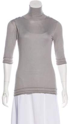 Burberry Lightweight Turtleneck Top Grey Lightweight Turtleneck Top
