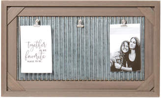"""Sheffield Home 4"""" x 6"""" Wood Grain & Galvanized Metal Picture Frame"""