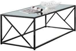 Monarch Metal Glass Coffee Table