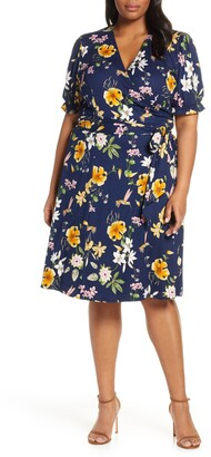 Kiyonna Tuscan Floral Wrap Dress