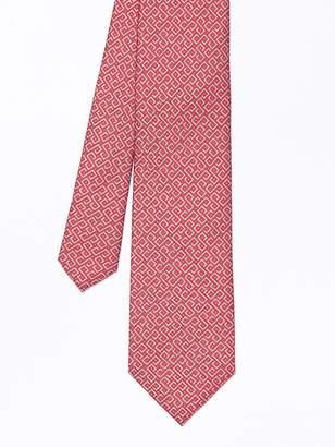 Italian Silk Tie in Greek Key
