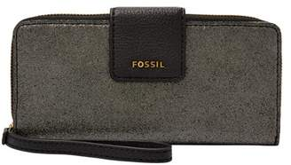 Fossil Madison Zip Clutch Wallet Pewter