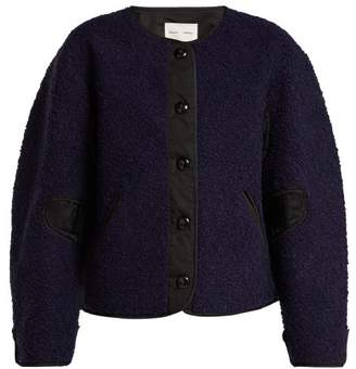 Proenza Schouler Pswl - Contrast Panel Fleece Jacket - Womens - Black Blue