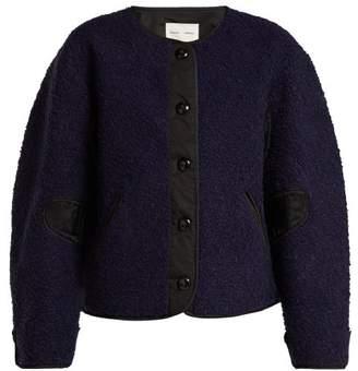 Pswl - Contrast Panel Fleece Jacket - Womens - Black Blue