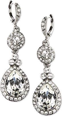 Givenchy Earrings, Silver-Tone Swarovski Element Double Drop Earrings