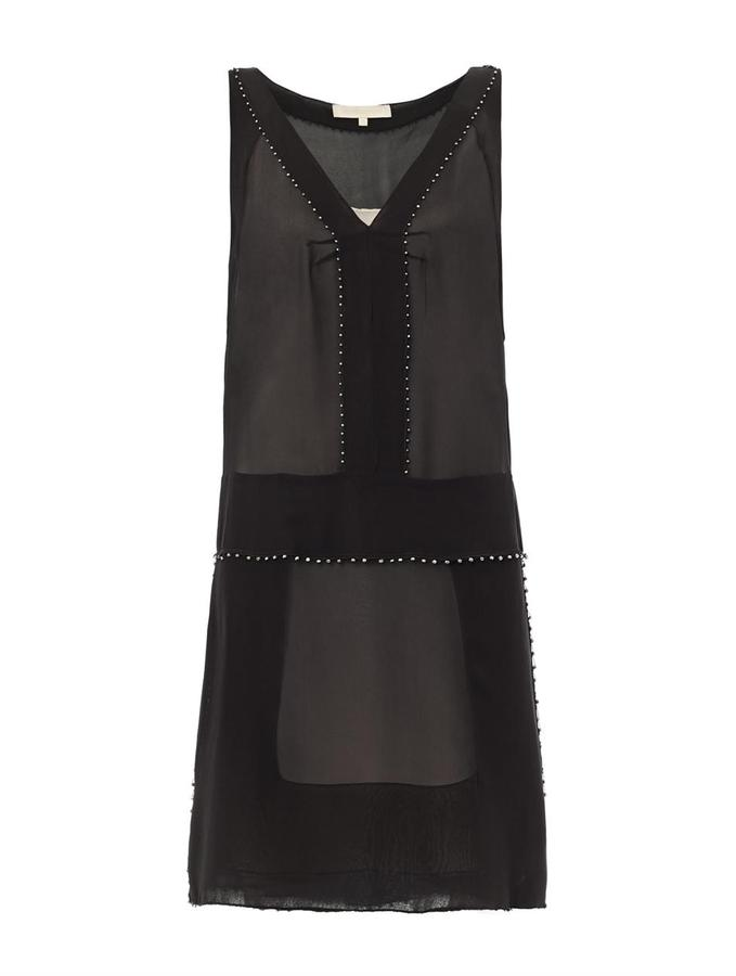 Vanessa Bruno Bead-embellished silk dress