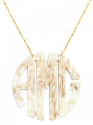 Extra Large Acrylic Block Monogram Necklace $85 thestylecure.com