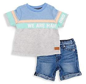 7 For All Mankind Little Boy's Two-Piece Top & Shorts Set