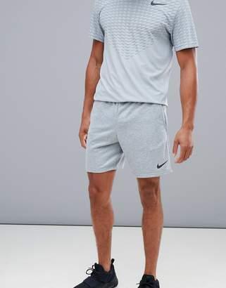 Nike Training Dry Hybrid Fleece Shorts In Grey AO1416-063