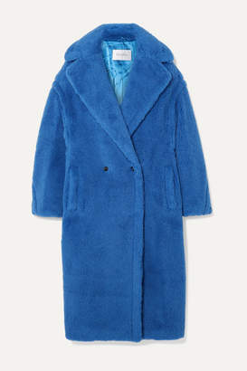 Max Mara Teddy Bear Alpaca-blend Coat - Bright blue