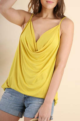 Umgee USA Drape-Neck Strappy Tank