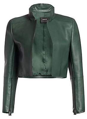 Akris Women's Cropped Leather Jacket