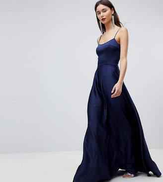 Asos Tall Tall Square Neck Cami Satin Maxi Dress