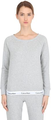 Logo Trim Cotton Sweatshirt $79 thestylecure.com