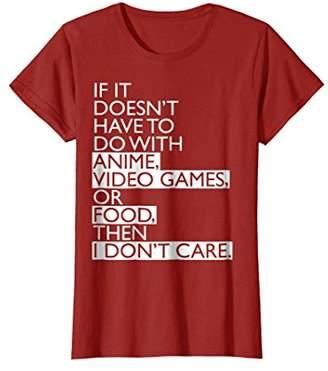 Anime T-shirt   Anime Video Games or Food