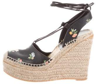 7cbf0e40c0d8b Pre-Owned at TheRealReal · Saint Laurent Prairie Flower Espadrille Wedges
