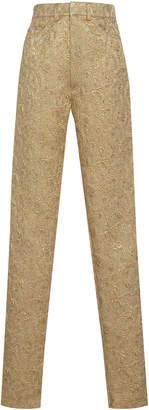 Maison Margiela Skinny Jacquard Cotton-Blend Pants