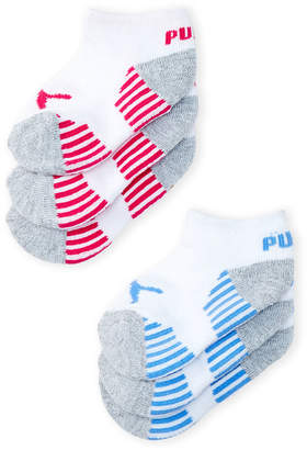 Puma Toddler Girls) 6-Pack Cushioned Low-Cut Socks