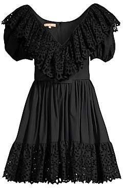 Michael Kors Women's Puff Sleeve Belted Dress