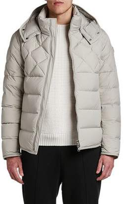 Moncler Men's Cecaud Channel-Quilted Puffer Coat