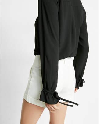 Express Slim Fit No Pocket Cinched Cuff Portofino Shirt $49.90 thestylecure.com