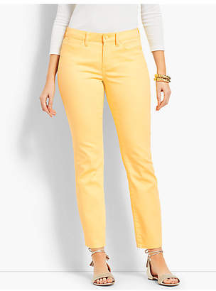 Talbots Colored Denim Slim Ankle Jean - Curvy Fit