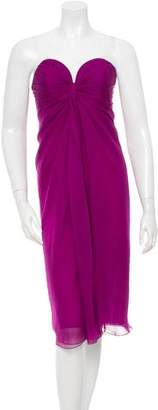 Saint Laurent Silk Strapless Dress w/ Tags