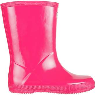 Hunter Kids Boots Infant's First Classic Gloss Rain Boot Bright Pnk 8 M US