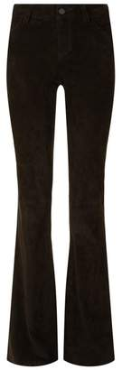 Alice + Olivia Suede Bell Bottom Jeans