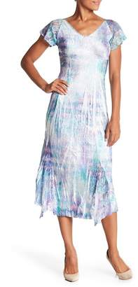 Komarov Short Sleeve Midi Dress