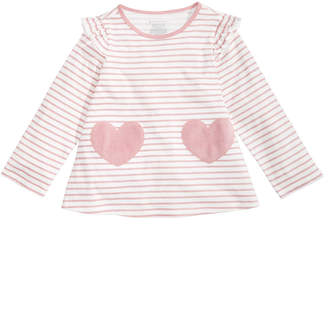 First Impressions Toddler Girls Stripes & Heart Cotton Top