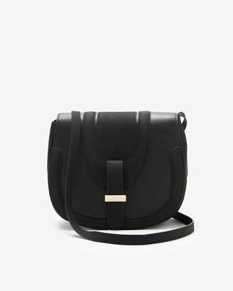 Express Fold-Over Saddle Crossbody Bag