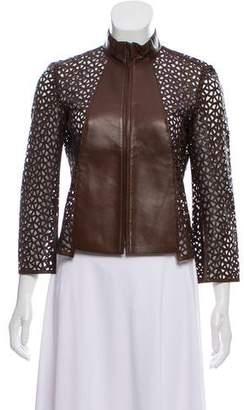 Akris Leather Laser Cut Jacket
