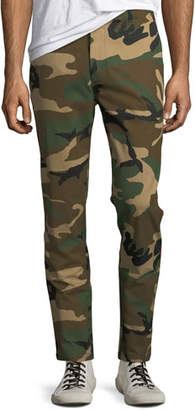 Ovadia & Sons Men's Camo-Print Side-Stripe Track Pants