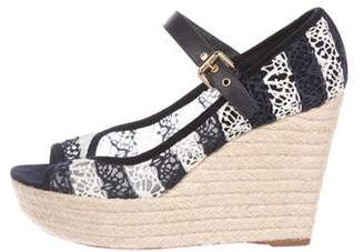 Louis Vuitton Mesh Espadrille Wedges