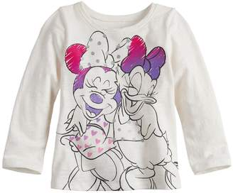 Osh Kosh Disneyjumping Beans Disney's Minnie Mouse & Daisy Duck Baby Girl Long Sleeve Graphic Tee by Jumping Beans