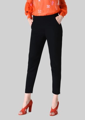 Giorgio Armani Classic Silk Cady Sweatpants