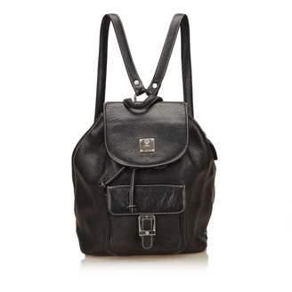 4d424e1d8950 Black Leather Backpack - ShopStyle