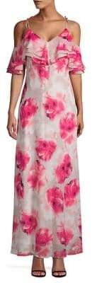 Calvin Klein Floral Cold Shoulder Maxi Dress