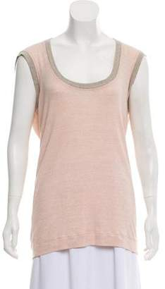 Stella McCartney Scoop Neck Sleeveless Top