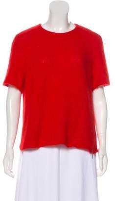 Valentino Angora Knit Sweater Red Angora Knit Sweater