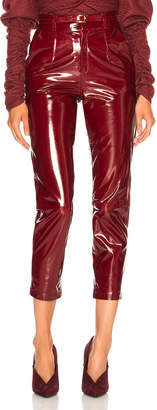 Zeynep Arcay Patent Leather Mom Pants